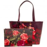 Ted Baker Womens Grape Maura Juxtapose Rose Small Shopper Bag & Purse