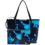 Ted Baker Womens Black Aleesa Butterfly Collective Large Shopper Bag & Purse
