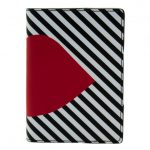 Lulu Guinness Womens Black, White & Red Lip Passport Holder