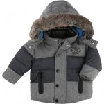 Timberland Baby Grey Fur Lined Hooded Jacket
