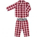 Timberland Baby Red Check Pyjama Set