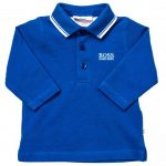 BOSS Baby Turquoise Branded Tipped L/s Polo Shirt