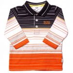 BOSS Baby Orange Mixed Stripe L/s Polo Shirt