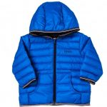 BOSS Baby Turquoise Branded Hooded Puffer Jacket
