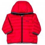 BOSS Baby Red Branded Hooded Puffer Jacket