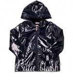 Billieblush Girls Navy Branded Raincoat