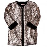 Billieblush Girls Metallic Coated Faux Fur Coat