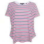 Maison Scotch Womens Assorted Striped S/s Tee Shirt
