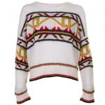 Maison Scotch Womens Cream Ski Knitted Jumper