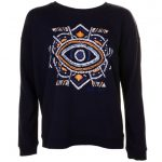 Maison Scotch Womens Black Printed Sweat Top