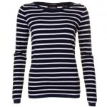 Maison Scotch Womens Black Trimmed Knitted Jumper