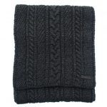 Ted Baker Mens Charcoal Locdale Cable Knit Scarf