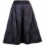 Ted Baker Womens Black Mansii Check Bow Detail Full Skirt
