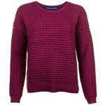 French Connection Womens Zinfandel Mozart Popcorn Knited Jumper