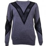 Y.A.S Womens Medium Grey Melange Yasmari Knitted Jumper