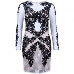 Forever Unique Womens Black & Ivory Jackie Dress