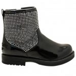 Lelli Kelly Girls Black Patent Betty Boots (22-27)