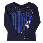 Billieblush Girls Navy Deer & Woods L/s Tee Shirt