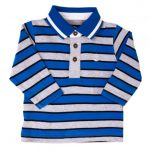 Timberland Baby Blue Striped L/s Polo Shirt