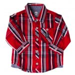 Timberland Baby Red Check L/s Shirt