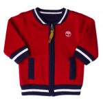 Timberland Baby Red Reversible Knitted Cardigan