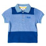 BOSS Baby Turquoise Block Stripe S/s Polo Shirt