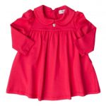 Armani Junior Baby Red Peter Pan Collar Dress