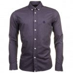 Henri Lloyd Mens Grey Melange Henri Club Regular Fit L/s Shirt