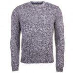 Original Penguin Mens Dark Shadow Twisted Yarn Crew Knitted Jumper