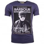 Barbour Steve McQueen Collection Mens New Navy Apex S/s Tee Shirt