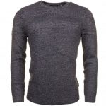 Ted Baker Mens Grey Marl Rossi Mixed Stitch Knitted Jumper
