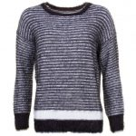 Replay Womens Black & White Striped Detail Jumper