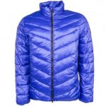 EA7 Mens Blue Mountain Shiny Down Jacket