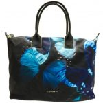 Ted Baker Womens Black Butterfly Collective Tamina Nylon Large Tote Bag