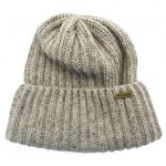 Barbour Lifestyle Mens Grey Mix Tyne Turnback Beanie Hat