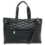 Armani Jeans Womens Black Quilted Shopper Bag