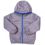 Lacoste Boys Light Grey & Blue Reversible Padded Jacket