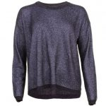 Maison Scotch Womens Navy Metallic Knitted Jumper