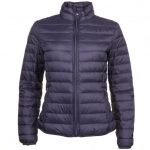 Armani Jeans Womens Blue Duck Down Baffle Quilted Jacket