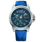 BOSS Orange Watches Mens Blue New York Silicone Strap Watch