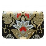 Ted Baker Womens Black Edena Opulent Orient Jacquard Clutch Bag