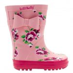 Lelli Kelly Girls Pink Rain 1 Wellington Boots (24-35)