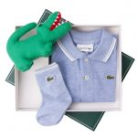 Lacoste Baby Cloudy Blue S/s Polo Shirt & Sock Set (1yr)