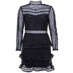 Y.A.S Womens Black Yasalberte Lace Dress