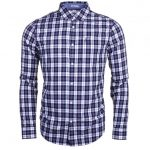 Original Penguin Mens Medieval Blue P55 Check Slim Fit L/s Shirt