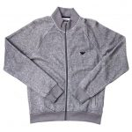 Emporio Armani Mens Grey Lounge Bomber Sweat Top
