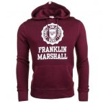 Franklin & Marshall Mens Bordeaux Hooded Sweat Top