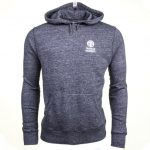 Franklin & Marshall Mens Smoke Melange Small Logo Hooded Sweat Top