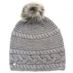 UGG Womens Steel Heather Cable Knit Oversized Beanie Hat