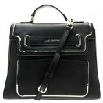 Love Moschino Womens Black Belt Top Handle Bag